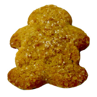 gingerbread cookie in the shape of a man