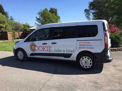 cookie take a bite delivery van