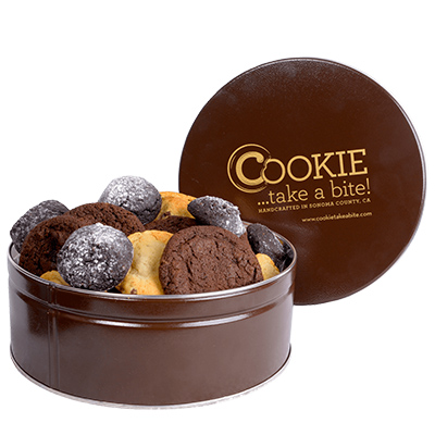 chocolate lover cookie tin