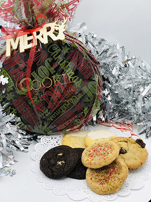Deluxe holiday cookie gift tins