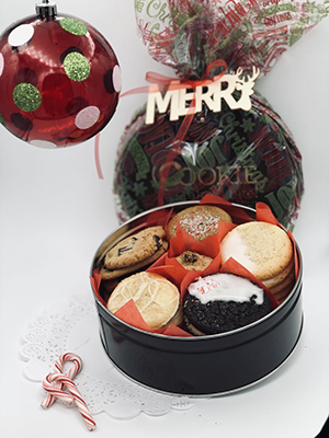 premium holiday gift cookie tins