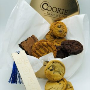 Cookie tin gift package for dad on Father's Day